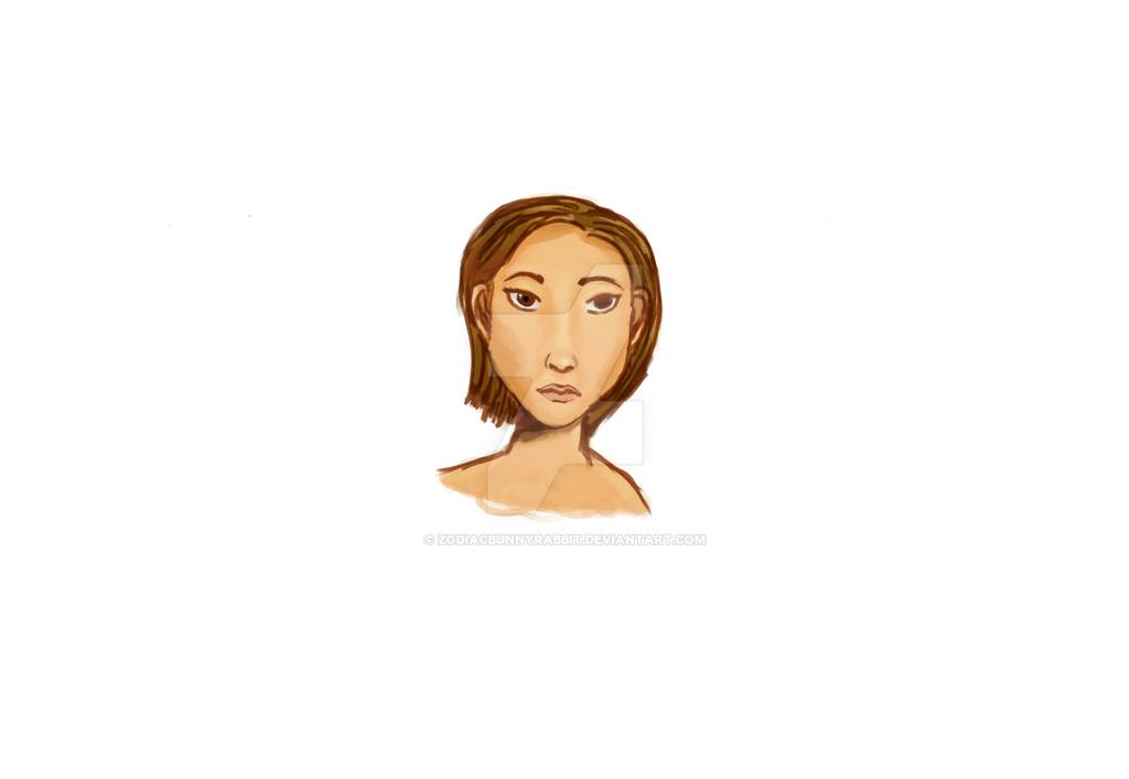 A girl by zodiacbunnyrabbit