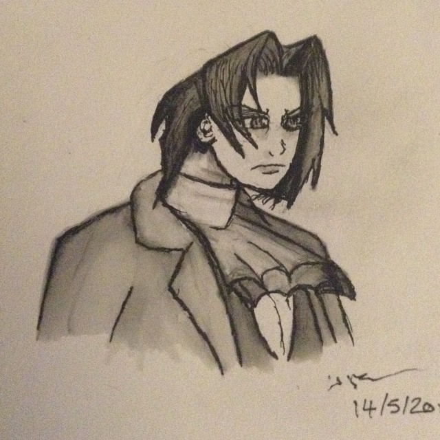 Miles Edgeworth by guineapiggin
