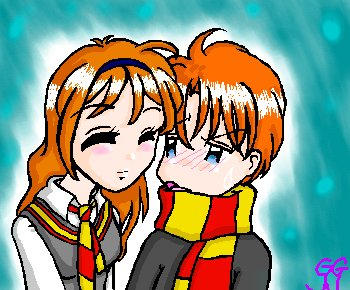Ginny and Ron Weasley by fantasyland