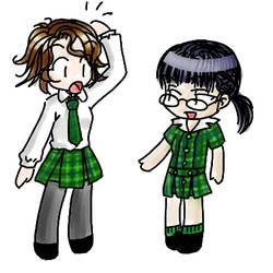 Chibi's in school uniform by fantasyland