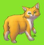 Cat Sticker- Manx by digital-blood