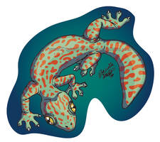 Gecko Sticker by digital-blood