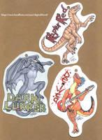 3 Badges for Rez Raptor by digital-blood