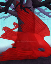 Illustration Scarlet Ibis 2