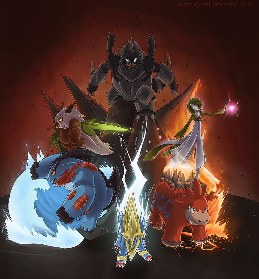 Pokemon - Omega Ruby Team by Arabesque91