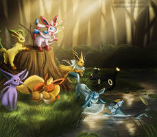 Eeveelutions by Arabesque91