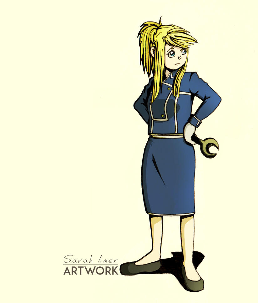 Winry In Military Uniform by sarroora