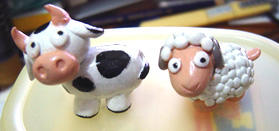 Cow + sheep by tragedienne