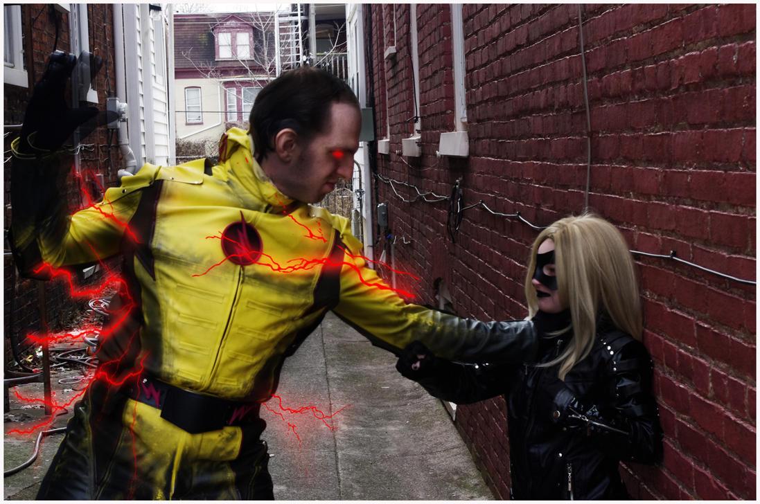 Black Canary vs Reverse Flash by Jasong72483