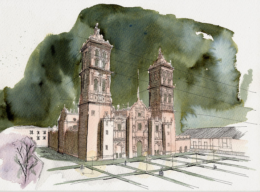 Arquitectura dibujo 10 by jujo on deviantart for Arquitectura de mexico