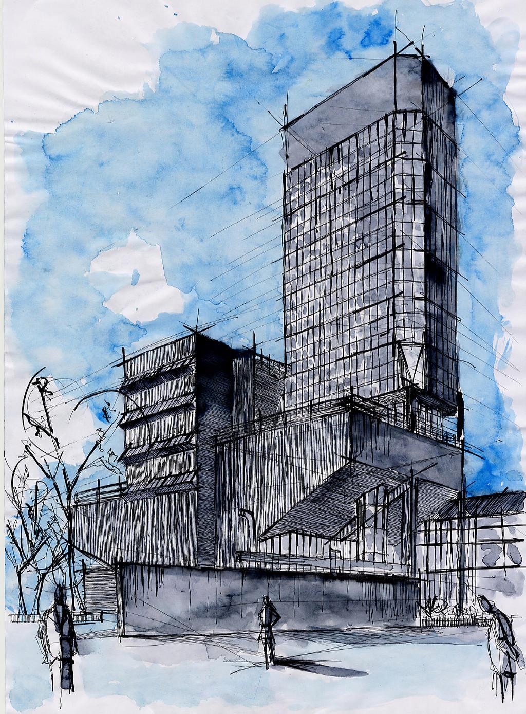 Arquitectura dibujo 30 by jujo on deviantart - Mesa de dibujo para arquitectura ...