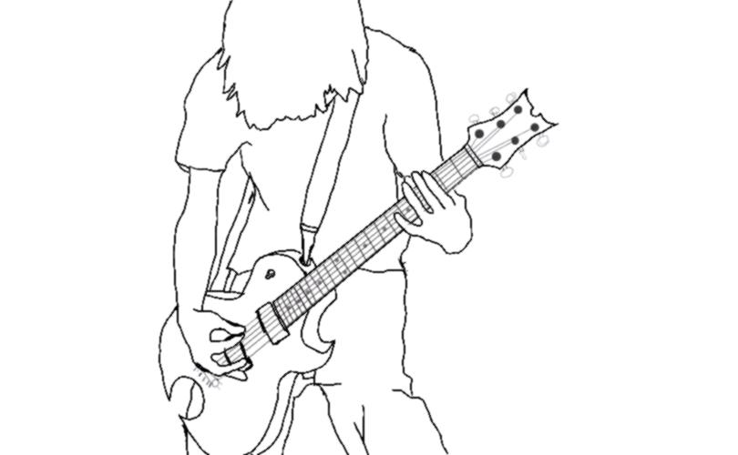 Line Art Guitar : Male guitar line art by stratkat on deviantart