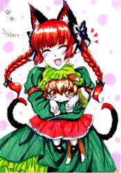 Sisters Orin and Chen by Orin-nyan