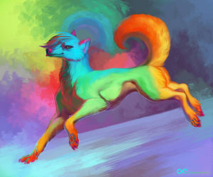 Rainbow Moon by ArsFatalis