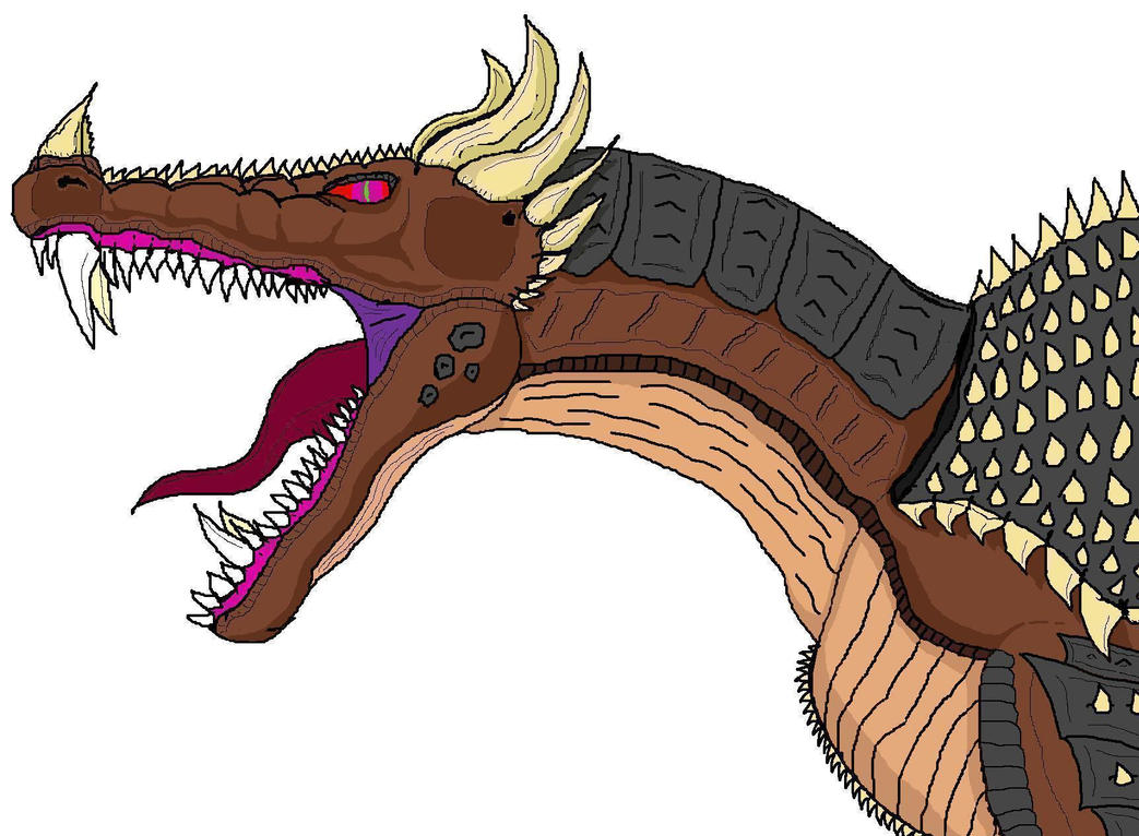 Anguirus head redesigned by XxHXCLIONxX