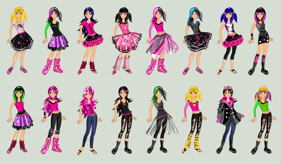 Emo Girl Dress Up. Suit 6 by TricksterGames on DeviantArt