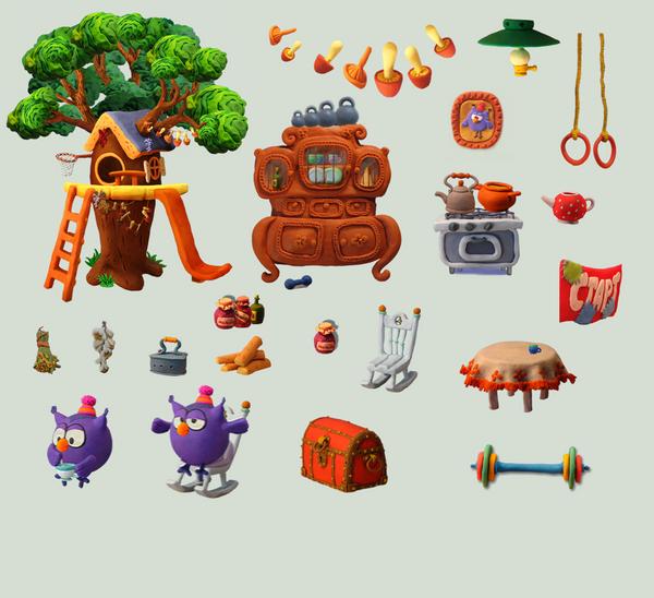 Smeshariki: Clay items 9 by TricksterGames on DeviantArt