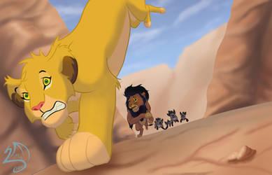 Escape de las hienas - Escape from hyenas