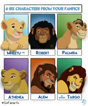 Six Characters from Your Fanfics Challenge