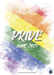 Poster for YCH campaign Pride 2021