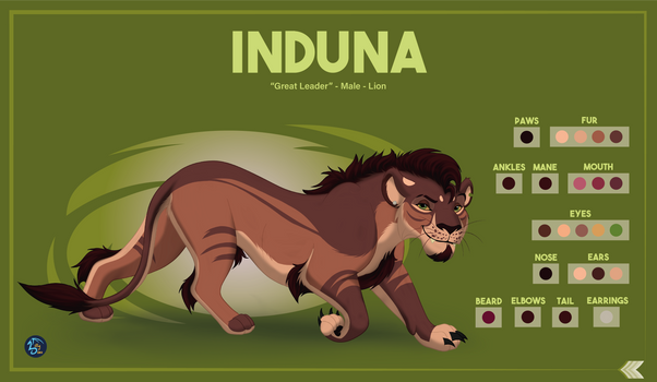 Reference Sheet - Induna (Commission)