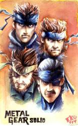 Metal Gear Solid Snake by eko999