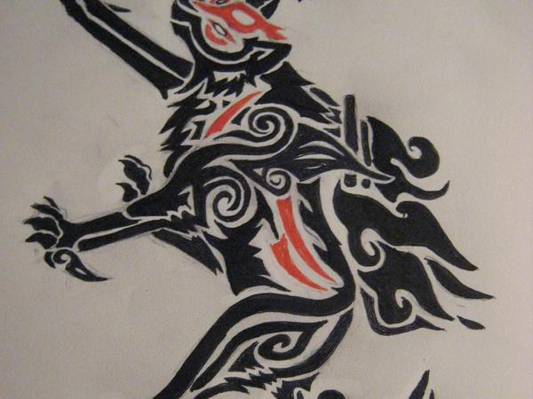 Okami tribal by Moose15
