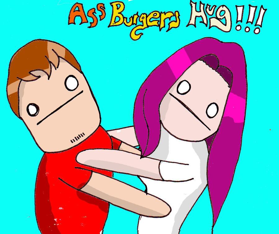 AssBurgers Hug!!! by BlakeJamesEpicArt
