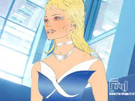 Blue Wonder Woman