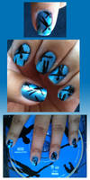 Nails are turning blue...