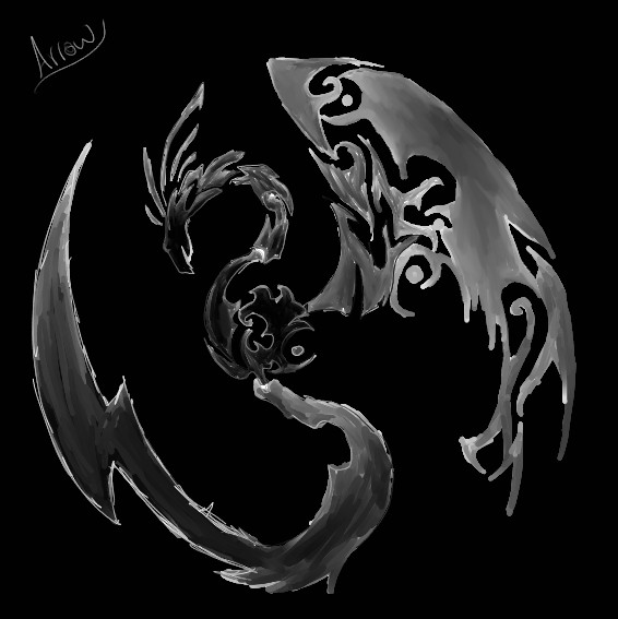 Dragon Tattoo by Blood-and-Arrowz