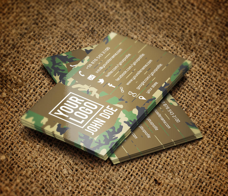 Camo Business Card by Carddesign on DeviantArt