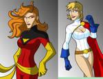 OLD ART DarkPhoenix Power Girl