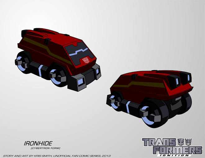 TF:Ignition - Ironhide (Cybertron Vehicle Mode) by KrisSmithDW