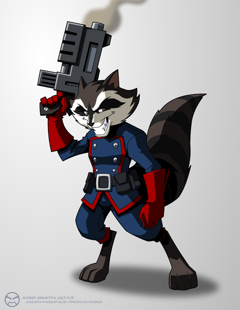 Rocket Raccoon by KrisSmithDW on DeviantArt