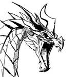 Drawlloween Inktober 2015 Day 31 - Dragon