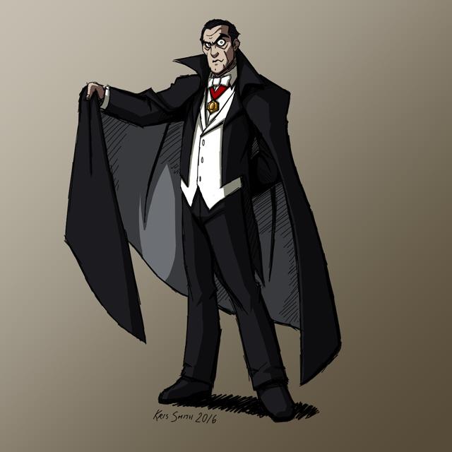 HALLOWEEN 2016 Day 2: Count Dracula by KrisSmithDW