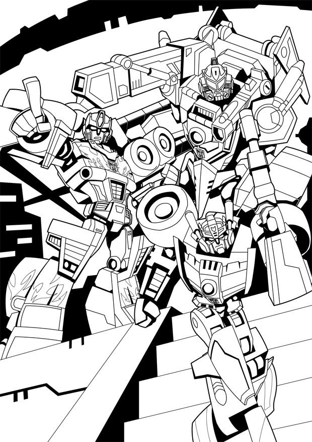 TFNation 2019 Team Rodimus Colouring Page