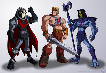 Hordak, He-Man and Skeletor
