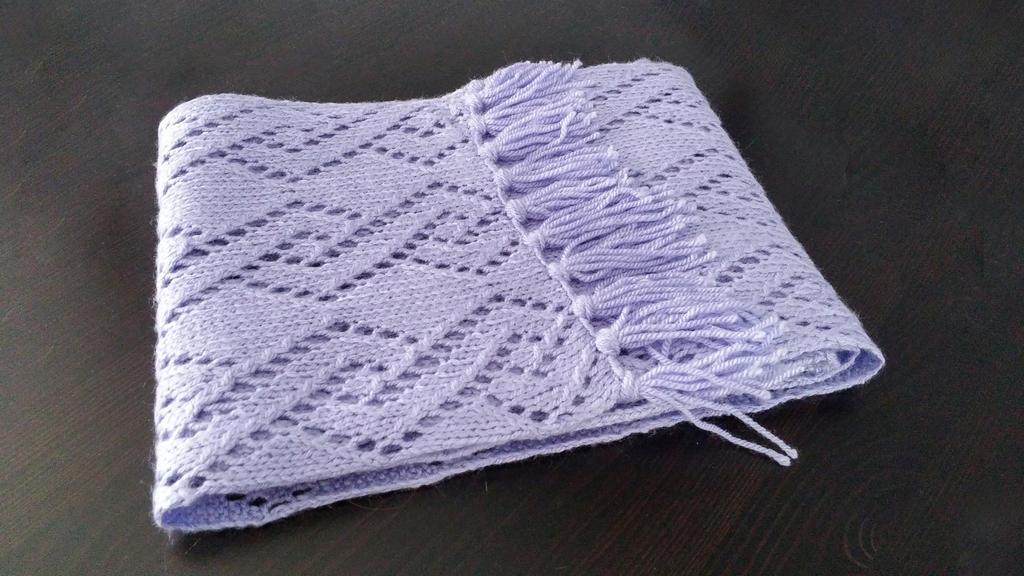 purple scarf by mangoest