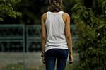 Blue pants V - Back