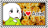 I Love Asriel stamp (F2U) by Luna-The-Fennec