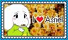I Love Asriel stamp (F2U) by Luna-The-Fennec