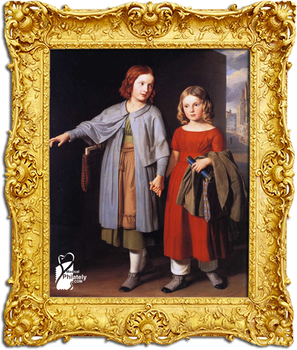 The painter's daughters on the way to school
