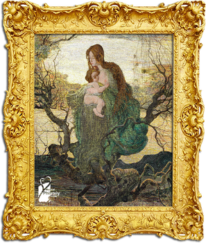 The Angel of Life, 1894, Mother and Child by Giova
