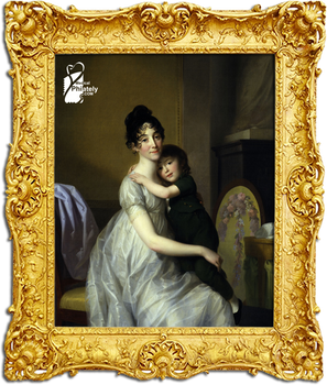 Anne Pauline Dufour-Feronce with her son Jean Marc