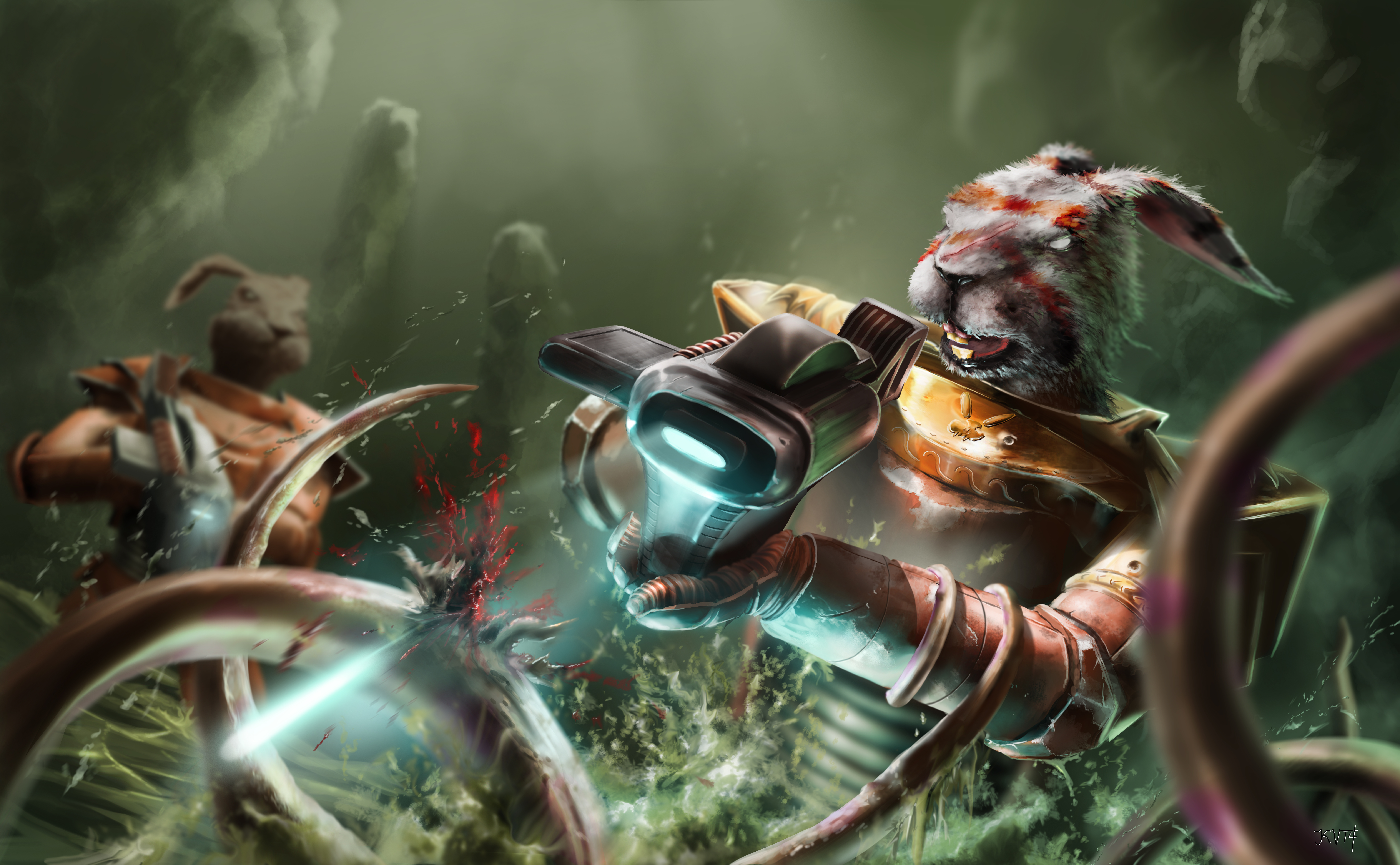 [Humour 40K] Collection d'images humoristiques - Page 2 Astro_hare_commander__6__by_kingstantin-d835qy2
