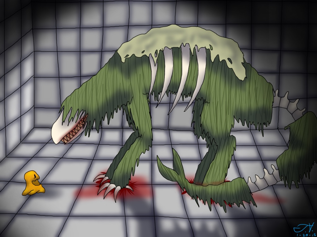 SCP-682 and 999 by LycanTrin on DeviantArt