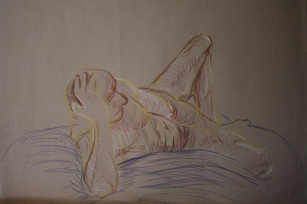 Lying down figure drawing by Cameron-McNamara