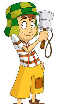 El Chavo with his Can-and-Stick VECTOR